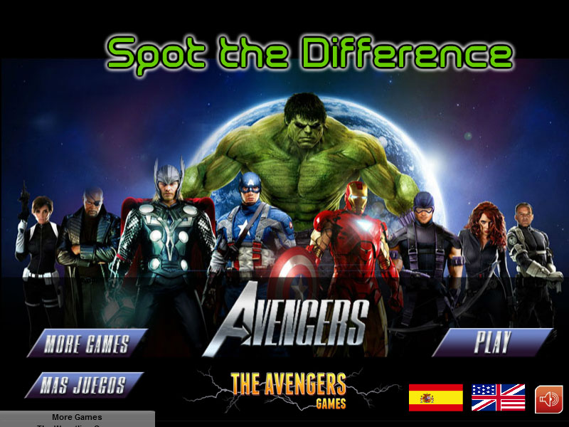 best games ever the avengers spot the differences